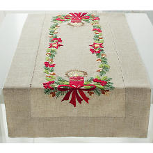 Stickläufer ' Adventskranz'