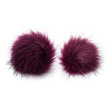 buttinette Pompons en imitation fourrure