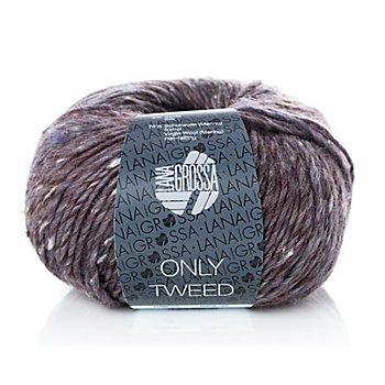 Lana Grossa Wolle Only Tweed, aubergine color