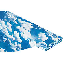 Baumwollstoff-Digitaldruck 'Wolkenhimmel Ria', blau-color