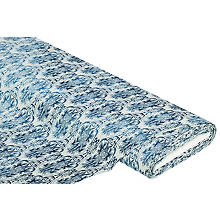 Baumwollstoff 'Batik-Design', blau-color
