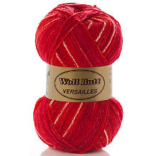 Laine Woll Butt Versailles extra doux, rouge multicolore