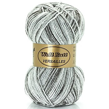 Woll Butt Garn Versailles supersoft, grau color