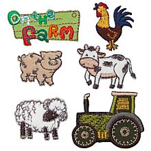 Prym Applikationen 'On the Farm', Gr��e: 2,5 - 4,5�cm, Inhalt: 6 St�ck
