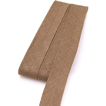 buttinette Biais en coton, marron clair, largeur : 2 cm, longueur : 5 m