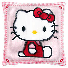Devant de coussin à broder 'Hello Kitty', rose