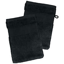 buttinette Lot de 2 gants de toilette, noir