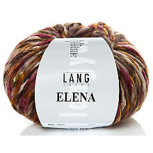 Lang Yarns Wolle Elena, bordeaux color
