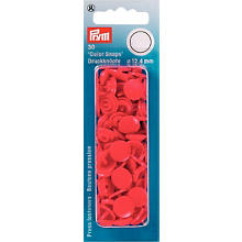 Boutons de pression Prym 'Color Snaps', rouge