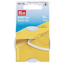 Prym Wonder Tape, transparent, largeur : 6 mm, 9 m