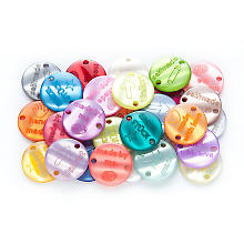 buttinette Boutons 'handmade', multicolore, Ø 17 mm, 30 pièces