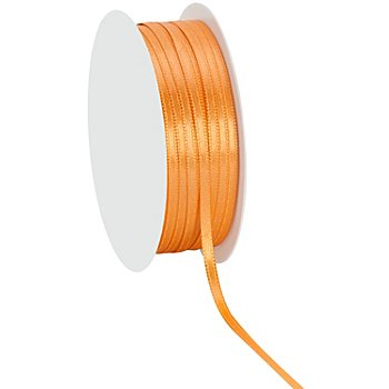 Satinband, apricot, 3 mm, 20 m