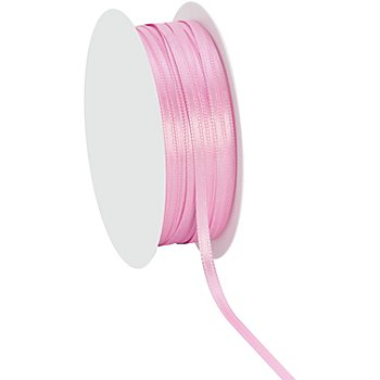 Satinband, rosa, 3 mm, 20 m
