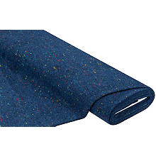 Tissu 'aspect tweed', bleu/multicolore