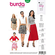 burda Schnitt 6682 'Rock in A-Linie-Form'