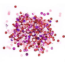 Paillettes, tons rouge/rose, 6 mm Ø, 30 g
