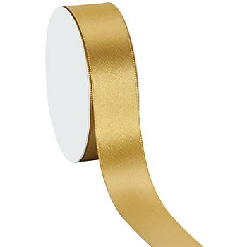 Satinband, gold, 25 mm, 10 m