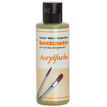 buttinette Acrylfarbe, olivgrün, 80 ml