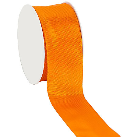 Stoffband mit Drahtkante, orange, 40 mm, 10 m