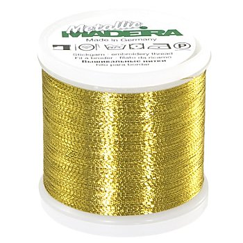 MADEIRA Stickgarn Metallic 'Brilliant', Stärke 40, 200 m-Spule, gold