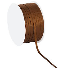 Satinband, braun, 3 mm, 50 m