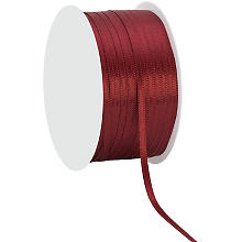 Ruban satin 3 mm, bordeaux, 50 m