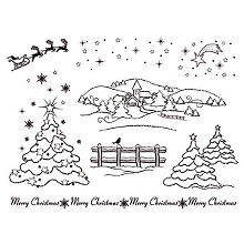 Silikonstempel-Set 'Merry Christmas'