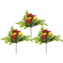 Blumenpicks, gelb-orange, 15 cm, 3 Picks