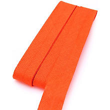 Biais en coton buttinette, orange, largeur : 2 cm, longueur : 5 m