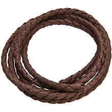 Cordon en coton, marron, 3 mm Ø, 3 m