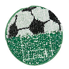 buttinette Motif 'football' à paillettes réversibles, 13 cm Ø
