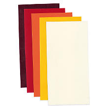 Plaques de cire, jaune/orange/rouge