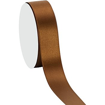 Ruban satin 25 mm,  marron