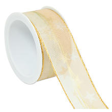 Sterneband, creme-gold, 40 mm, 5 m