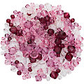 Facettierte Glasperlen, lila-rosa-transparent, 4 - 8 mm, 50 g