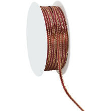Satinband, bordeaux-gold, 3 mm, 20 m