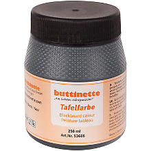 buttinette Tafelfarbe, 250 ml, schwarz