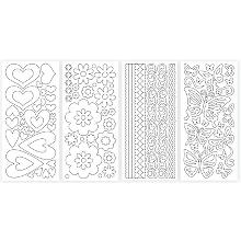 Set de stickers, transparent, 23 x 10 cm, 8 feuilles