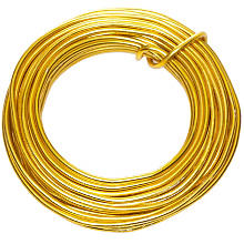 Aludraht, gold, 2 mm, 6 m