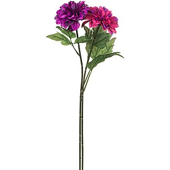 Dahlias artificiels, violet/rose vif, 65 cm