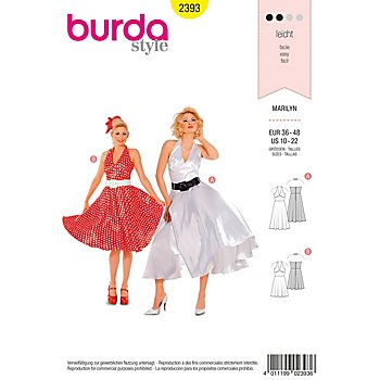 Patron burda 2393 'robe Marilyn'