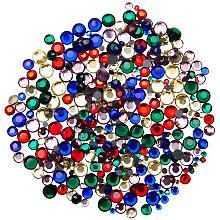 Pierres strass thermocollantes hot fix, multicolore, 12 g