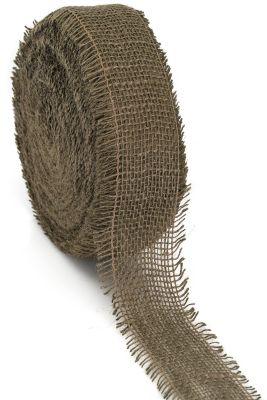 Ruban de toile de jute, marron