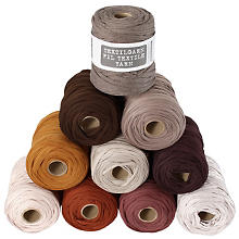 Fil textile buttinette, tons marron, 450 g