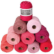 Fil textile buttinette, tons rouges, 450 g