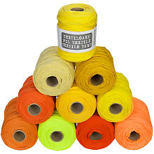 Fil textile buttinette, tons orange/jaune, 450 g