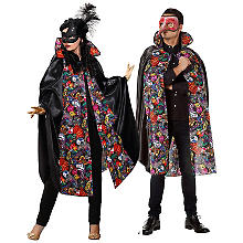 Cape 'masques', noir/multicolore