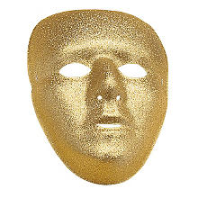 Glitzermaske, gold