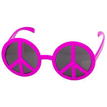 Peace-Brille, pink