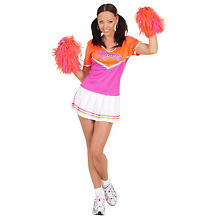 Cheerleader Kostüm, orange/pink